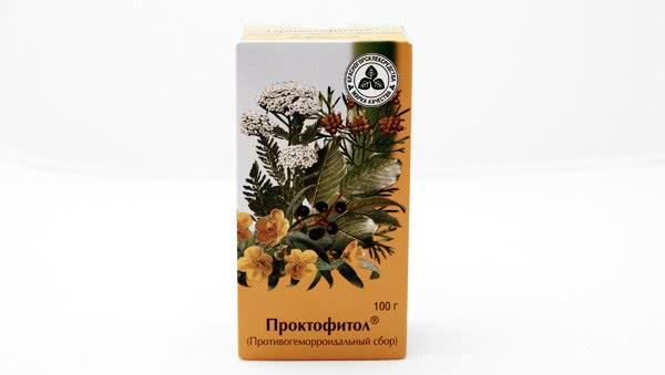 Упаковка противогеморроидального сбора Проктофитол