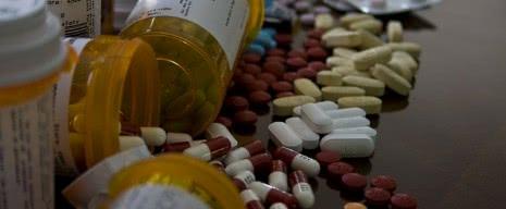 Россыпь различных лекарств