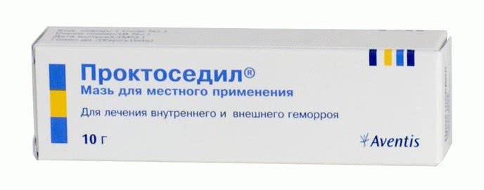 Упаковка мази Проктоседил