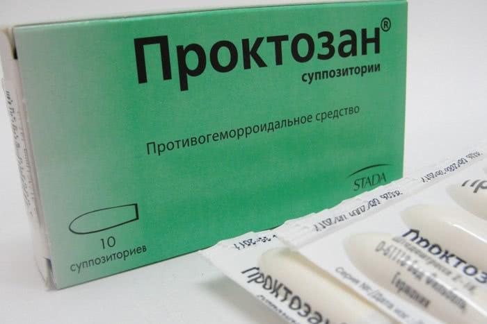 Противогеморроидальное средство Проктозан