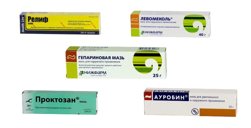 Мази от анальных трещин: Релиф, Гепариновая, Левомеколь, Проктозан, Ауробин