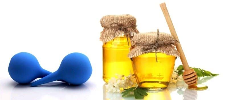 Мед и груши для клизм
