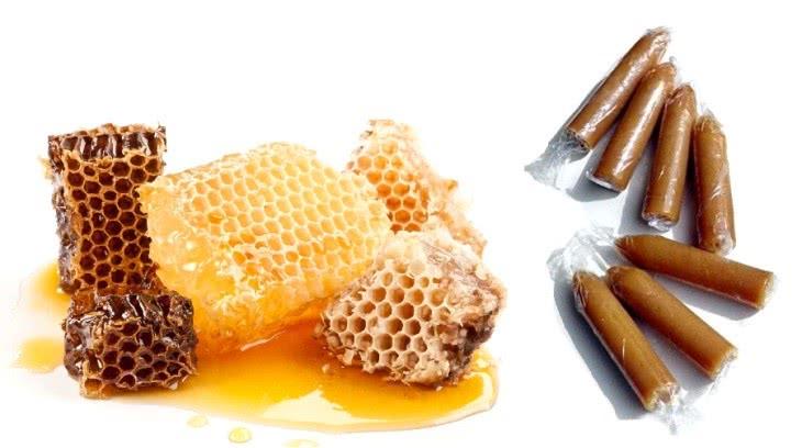 Соты с медом и ректальные свечи