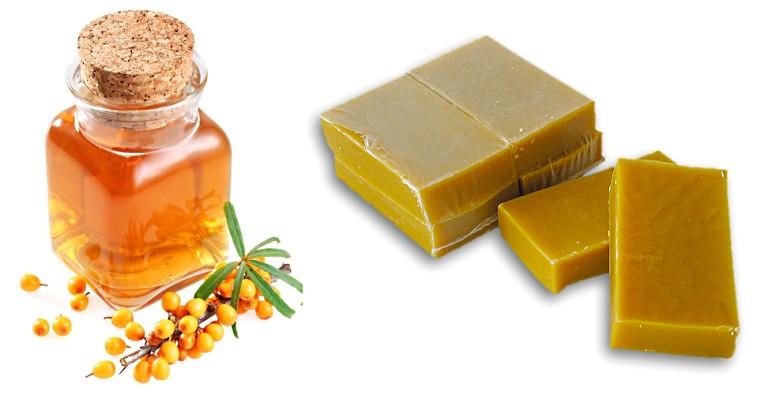 Пчелиный воск и облепиховое масло