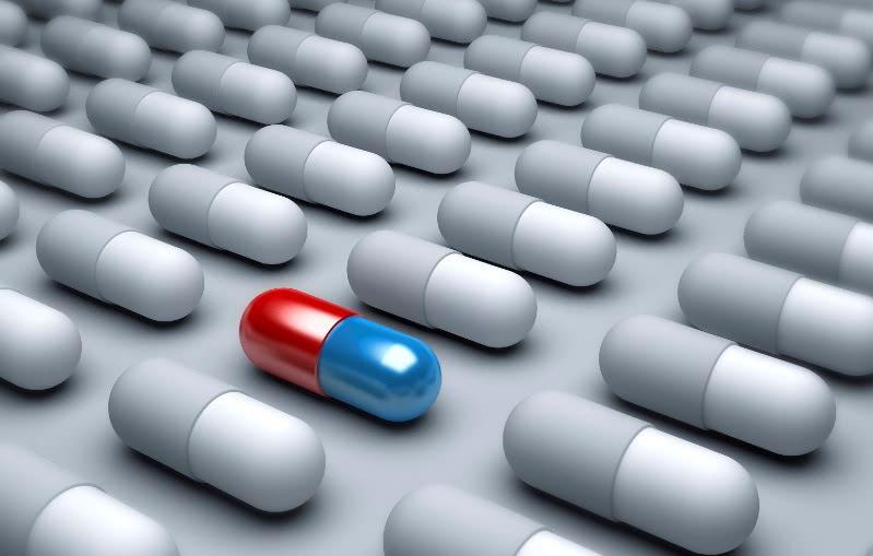 Много лекарственных капсул