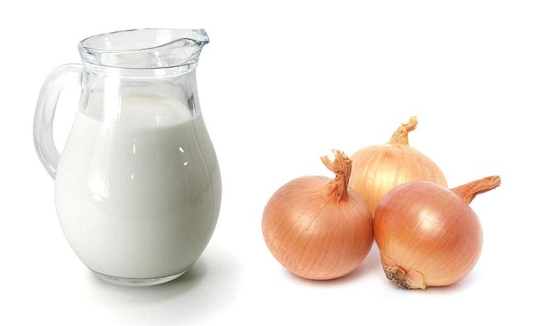 Молоко и лук для паровой ванночки при геморрое