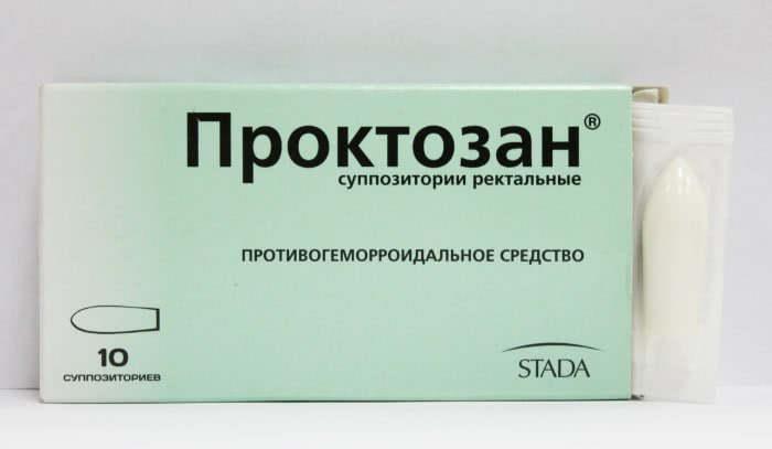 Свечи от геморроя Проктозан